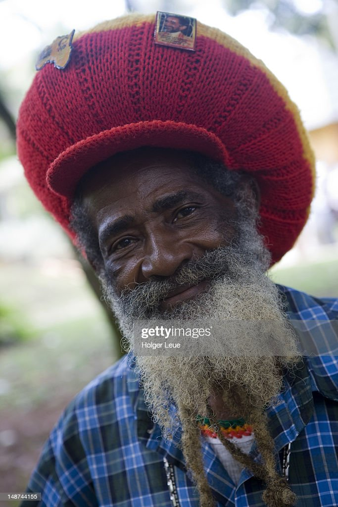 Portrait of Jamaican rasta man.