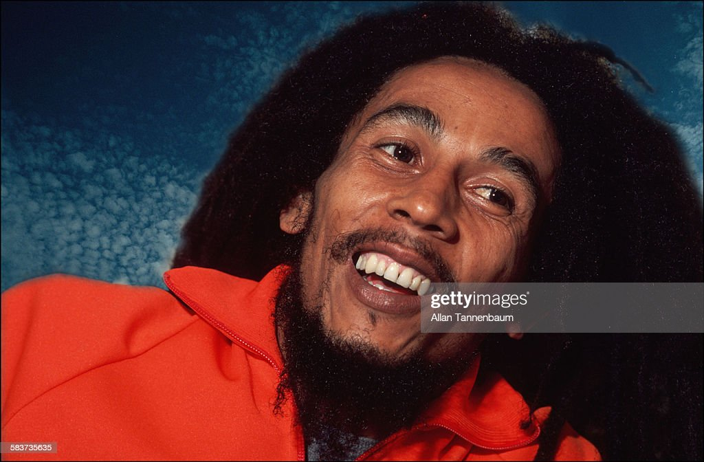 Portrait of Jamaican Reggae musician <a gi-track='captionPersonalityLinkClicked' href=/galleries/search?phrase=Bob+Marley+-+Musician&family=editorial&specificpeople=240470 ng-click='$event.stopPropagation()'>Bob Marley</a>, New York, New York, October 1979.