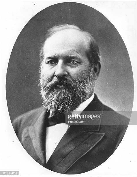 Portrait of James A Garfield the 20th president of the United States of America late nineteenth century