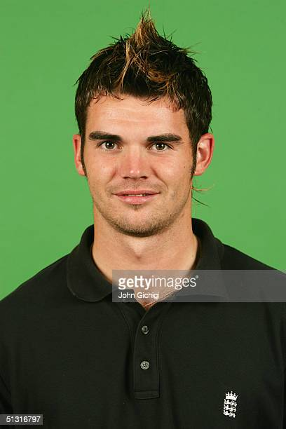 A portrait of James Anderson of England taken during an ICC photocall at the Marriott Maida Vale on September 6 2004 in London