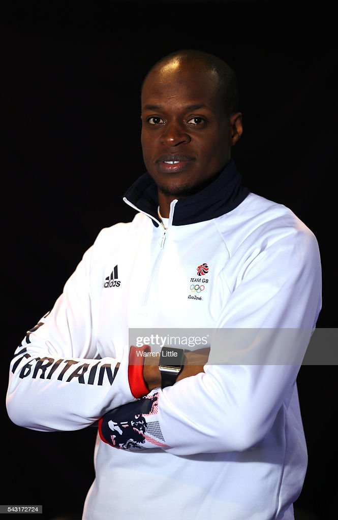 A portrait of <a gi-track='captionPersonalityLinkClicked' href=/galleries/search?phrase=James+Dasaolu&family=editorial&specificpeople=7118567 ng-click='$event.stopPropagation()'>James Dasaolu</a> a member of the Great Britain Olympic team during the Team GB Kitting Out ahead of Rio 2016 Olympic Games on June 26, 2016 in Birmingham, England.