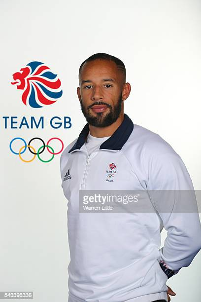 A portrait of James Ellington a member of the Great Britain Olympic team during the Team GB Kitting Out ahead of Rio 2016 Olympic Games on June 26...