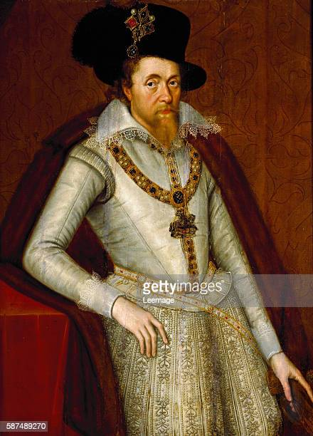 Portrait of James I of England and VI of Scotland Painting by the studio of John de Critz the Elder c 1610 Florence Galleria Palatina