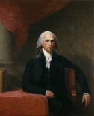 Portrait of James Madison by Gilbert Stuart who made additional copies after completion of the work Date c 1805–07