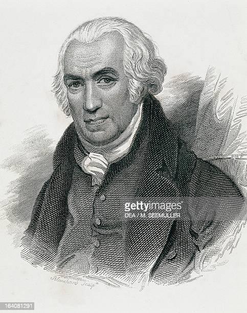 Portrait of James Watt British mathematician and engineer Engraving Paris Hôtel Carnavalet