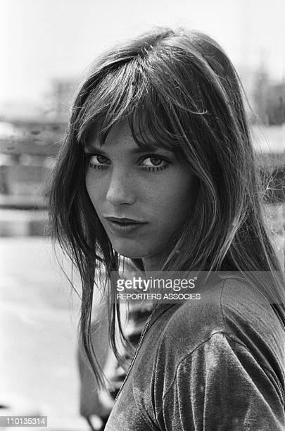 Portrait of Jane Birkin in 1970