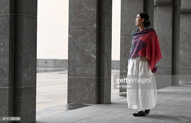 Portrait of Japanese auteur Naomi Kawase at the Museum of Islamic Art on day four of Qumra the second edition of the industry event by the Doha Film...