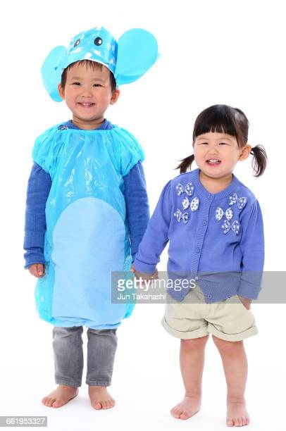 portrait of Japanese boy and girl