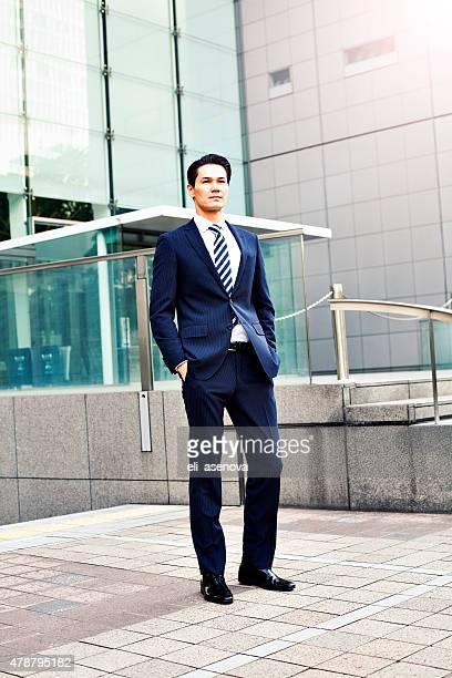 Ritratto di uomo d'affari giapponese a Tokyo
