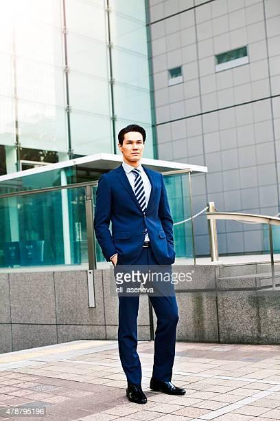 Portrait of japanese businessman in Tokyo
