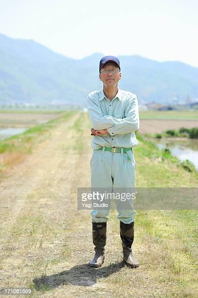 Portrait of Japanese farmers