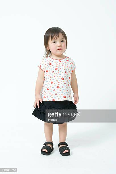 Portrait of Japanese girl (2-3 years), full length