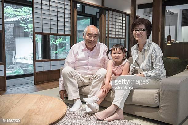 の肖像日本の方々に若い女の子ご自宅で
