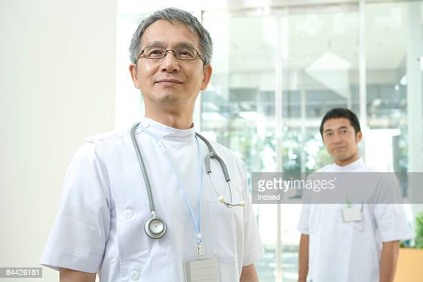 Portrait of Japanese male doctor and nurse
