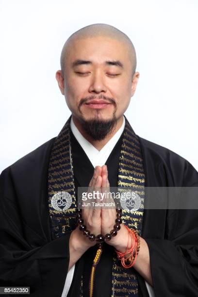 Portrait of Japanese monk