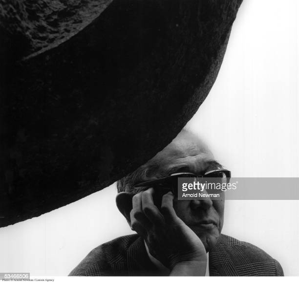 Portrait of Japanese movie director Akira Kurosawa at Japan House October 7 1981 in New York City He is best known for such films as 'Ran' 'Throne of...