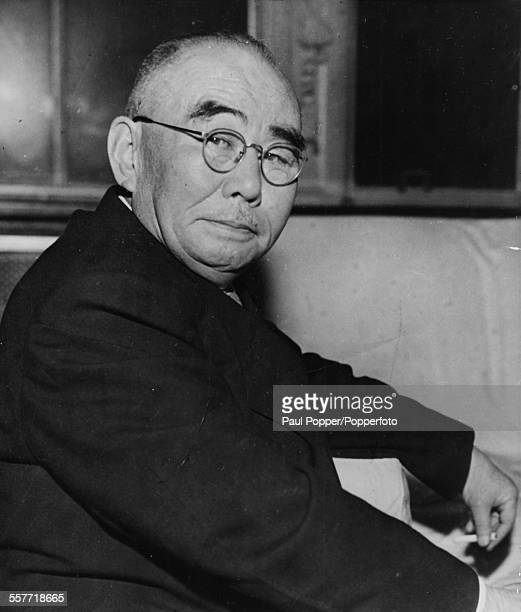 Portrait of Japanese politician Tanzan Ishibashi the new President of the LiberalDemocratic Party in Japan December 20th 1956