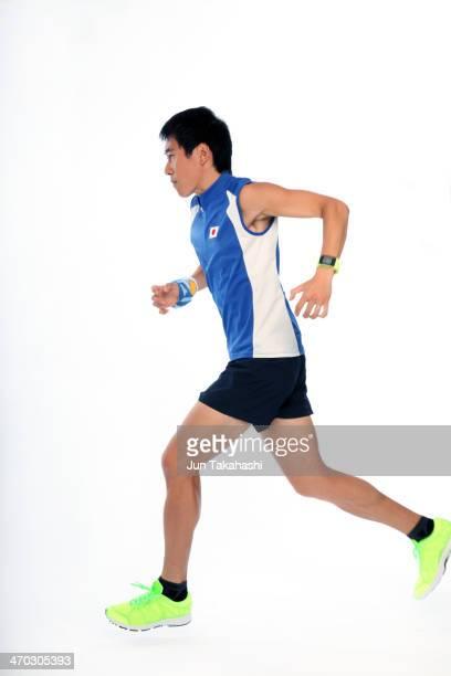 Portrait of japanese runner