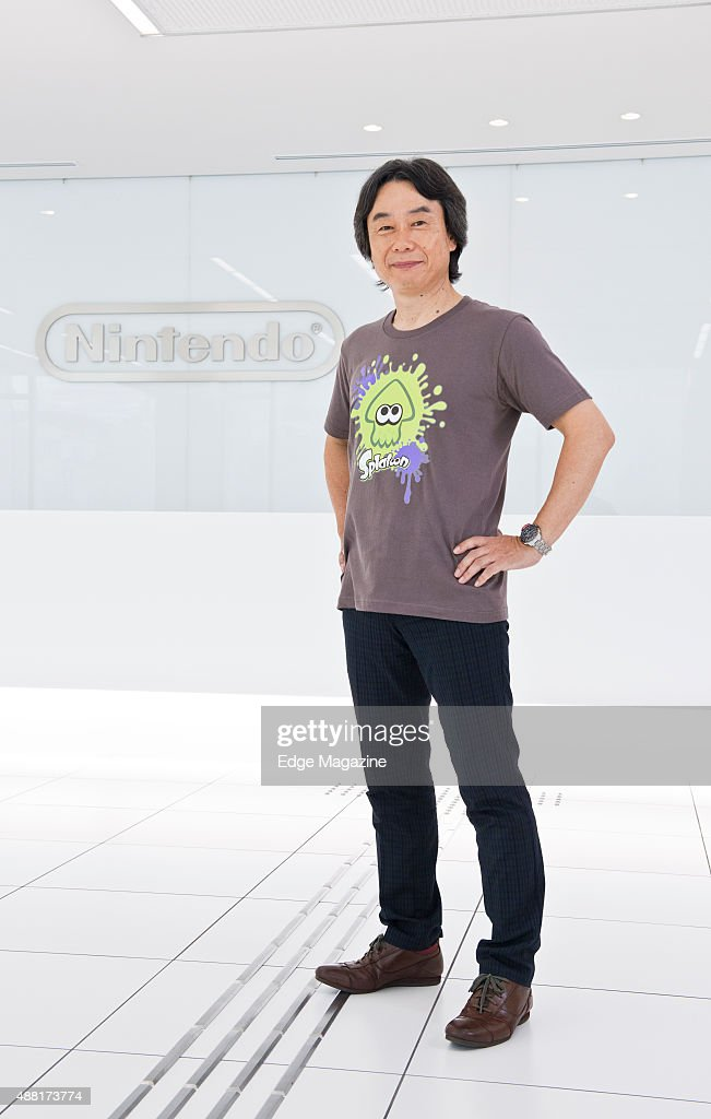 Portrait of Japanese video games designer and producer <a gi-track='captionPersonalityLinkClicked' href=/galleries/search?phrase=Shigeru+Miyamoto&family=editorial&specificpeople=2608501 ng-click='$event.stopPropagation()'>Shigeru Miyamoto</a>, photographed at Nintendo headquarters in Kyoto, Japan, on July 25, 2014. Miyamoto is best known as the creator of game franchises such as Super Mario and The Legend Of Zelda.