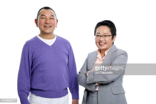 portrait of japanese woman and man