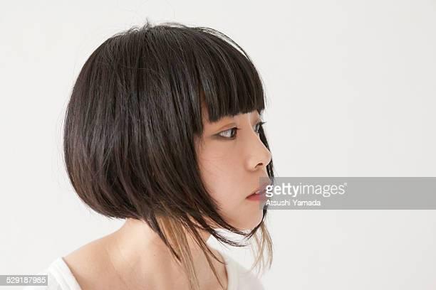 Portrait of Japanese woman,close up