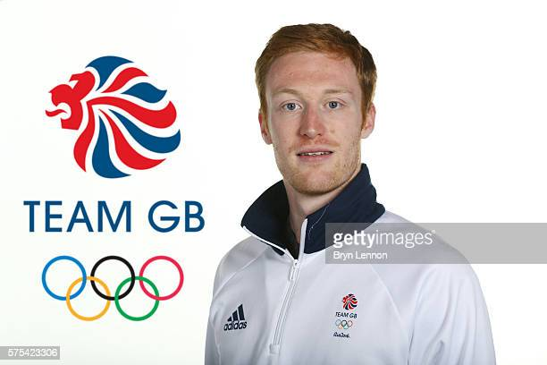 A portrait of Jarryd Dunn a member of the Great Britain Olympic Atheltics team during the Team GB Kitting Out ahead of Rio 2016 Olympic Games on July...