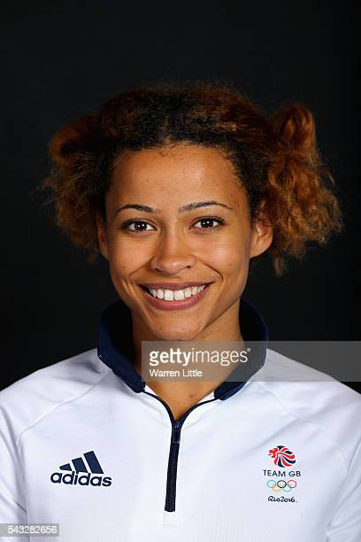 A portrait of Jazmin Sawyers a member of the Great Britain Olympic team during the Team GB Kitting Out ahead of Rio 2016 Olympic Games on June 27...