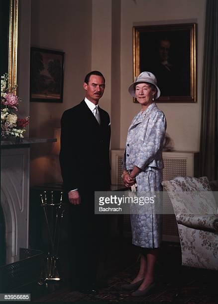 Portrait of Jean Grand Duke of Luxembourg standing next to the Grand Duchess Charlotte 1963 Washington DC