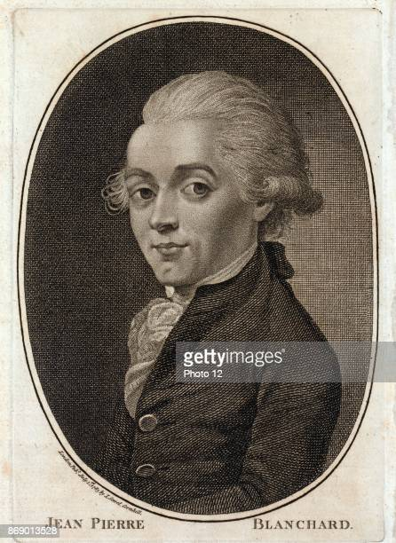 Portrait of Jean Pierre Blanchard French inventor best known as a pioneer in balloon flight Dated 1785