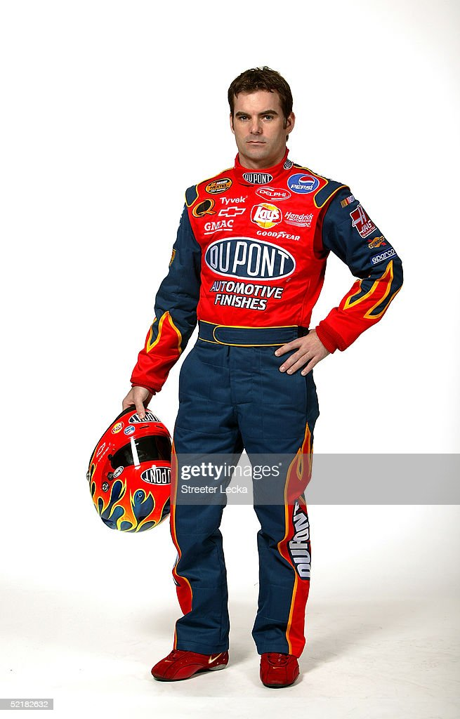 Portrait of <a gi-track='captionPersonalityLinkClicked' href=/galleries/search?phrase=Jeff+Gordon&family=editorial&specificpeople=171491 ng-click='$event.stopPropagation()'>Jeff Gordon</a>, driver of the #24 Hendrick Motorsports Dupont Chevrolet, during Media Day at the NASCAR Nextel Cup Daytona 500 on February 10, 2005 at the Daytona International Speedway in Daytona, Florida.