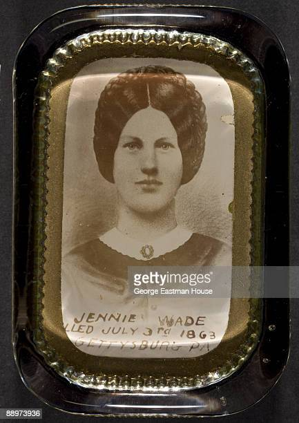 Portrait of Jennie Wade the only civilian casualty during the American Civil War's Battle of Gettysburg ca1860s The copy below the portrait states...