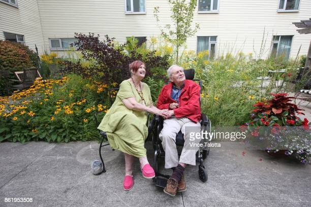 TORONTO ON SEPTEMBER 8 Portrait of Jennifer Brown and husband Karl at the Lakeside Long Term Care Centre Jennifer wants to move in with Karl but wait...