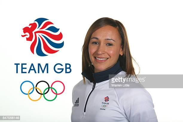 A portrait of Jessica Ennis Hill a member of the Great Britain Olympic team during the Team GB Kitting Out ahead of Rio 2016 Olympic Games on June 27...