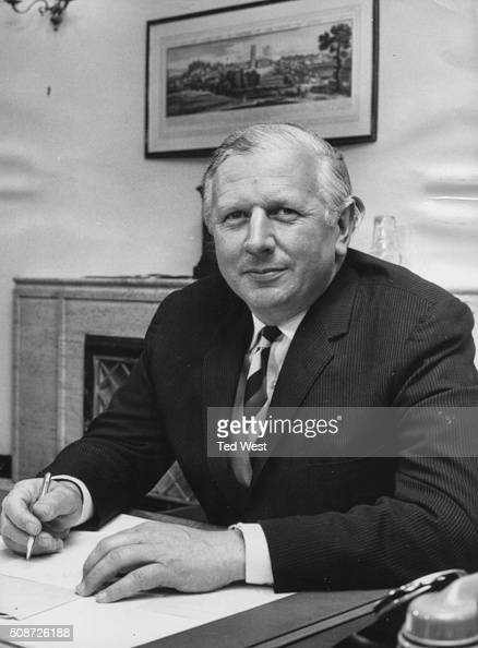 Portrait of Jim Prior the new Minister of Agriculture working at his desk in London June 24th 1970