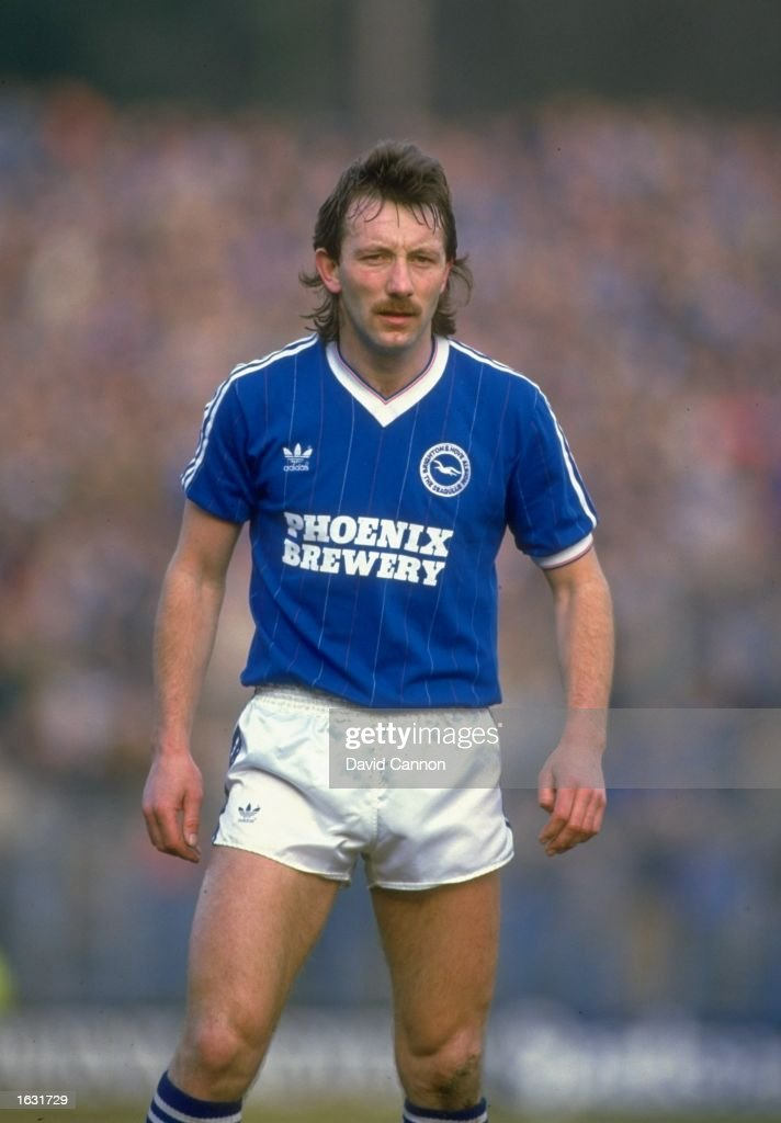 Portrait of Jimmy Case of Brighton and Hove Albion during a League Division Two match against Oxford at the Goldstone Ground in Brighton England The...