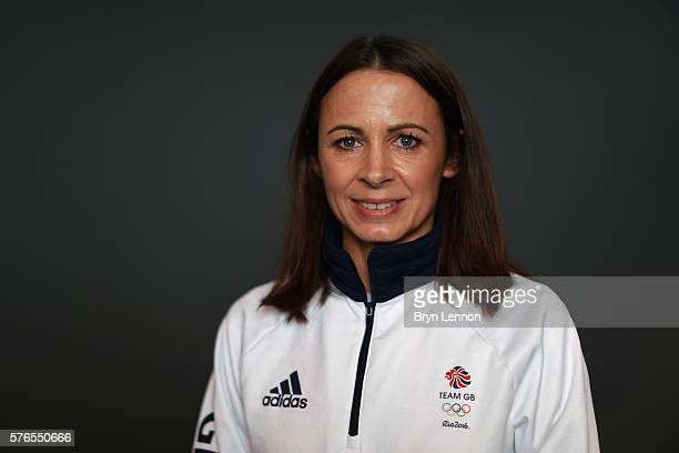 A portrait of Jo Pavey a member of the Great Britain Olympic Athletics team during the Team GB Kitting Out ahead of Rio 2016 Olympic Games on July 14...