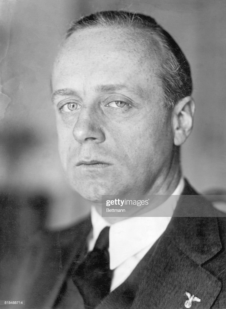 Portrait of <a gi-track='captionPersonalityLinkClicked' href=/galleries/search?phrase=Joachim+Von+Ribbentrop&family=editorial&specificpeople=93593 ng-click='$event.stopPropagation()'>Joachim Von Ribbentrop</a> (1893-1946), German diplomat who identified himself with Hitler's movement in 1933. He was hanged as a war criminal. Undated photograph.
