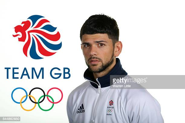 A portrait of Joe Cordina a member of the Great Britain Olympic team during the Team GB Kitting Out ahead of Rio 2016 Olympic Games on July 1 2016 in...