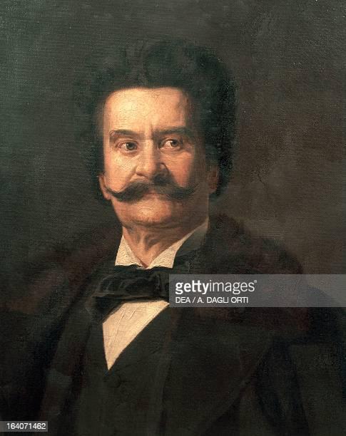 Portrait of Johann Strauss Austrian composer and conductor Vienna Gesellschaft Der Musikfreunde