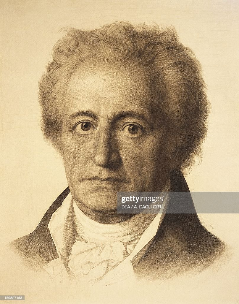Portrait of <a gi-track='captionPersonalityLinkClicked' href=/galleries/search?phrase=Johann+Wolfgang+von+Goethe&family=editorial&specificpeople=98976 ng-click='$event.stopPropagation()'>Johann Wolfgang von Goethe</a> (Frankfurt am Main, 1749-Weimar, 1832), German playwright, writer and philosopher. Vienna, Historisches Museum Der Stadt Wien