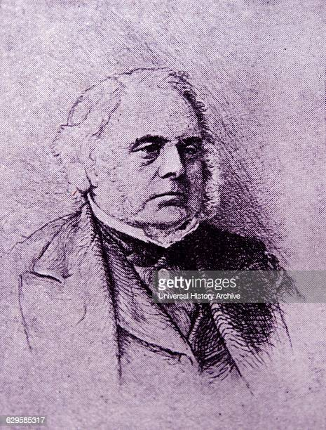Portrait of John Bright a British Radical and Liberal statesman one of the greatest orators of his generation and a promoter of free trade policies...