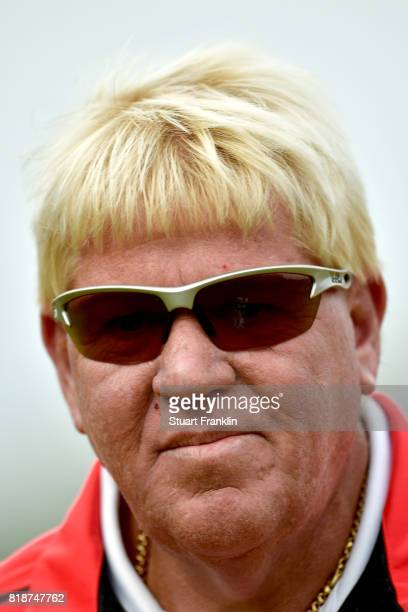 A portrait of John Daly of the United States during a practice round prior to the 146th Open Championship at Royal Birkdale on July 19 2017 in...