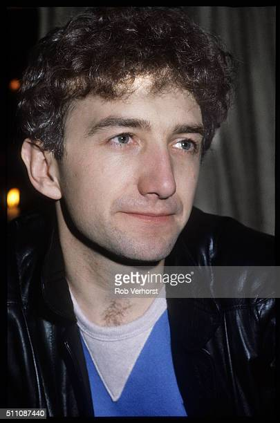 Portrait of John Deacon of Queen on a train from Leiden to Amsterdam Netherlands 25th April 1982