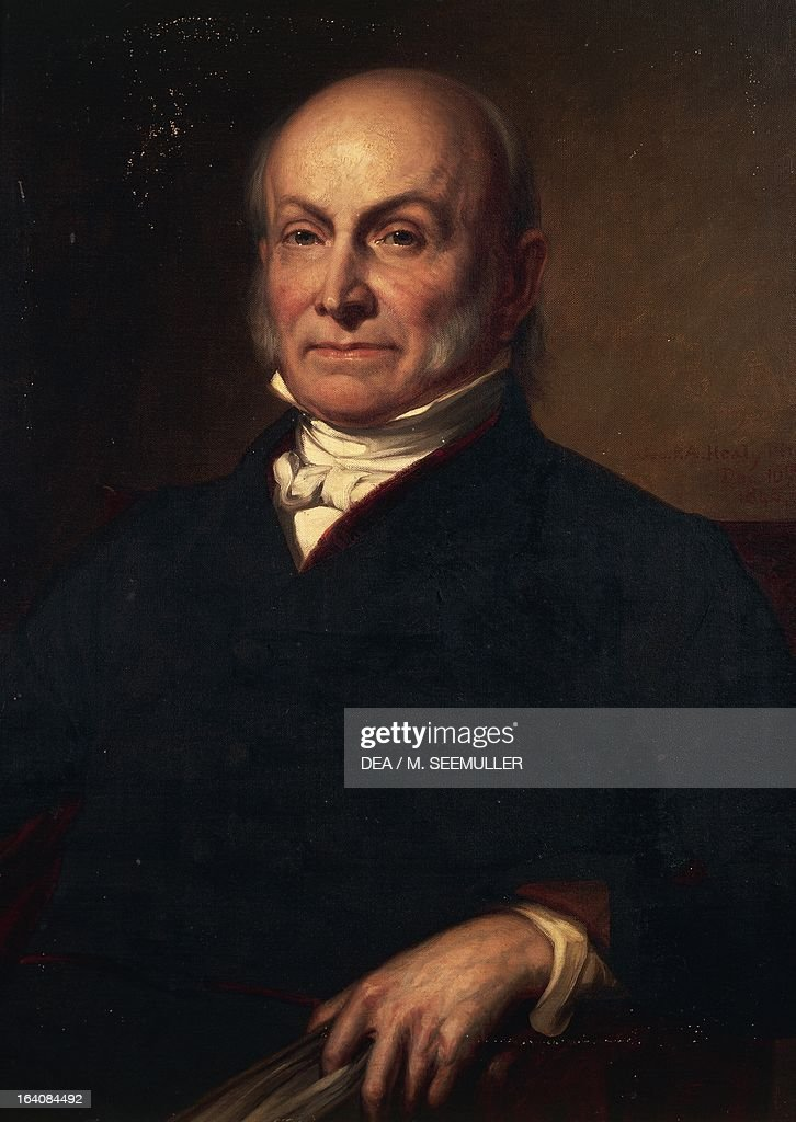 Portrait of John Quincy Adams American politician sixth President of the United States of America from 1825 to 1829 Painting by Healy 1846...
