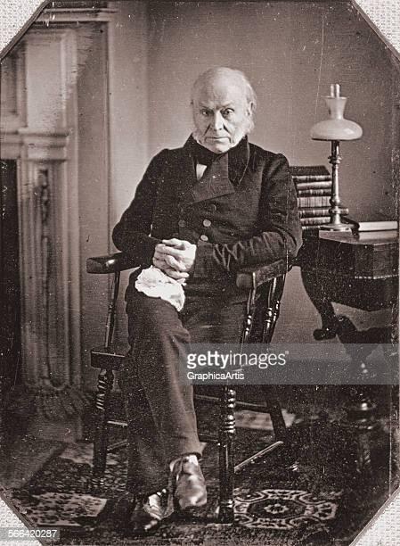 Portrait of John Quincy Adams from a daguerreotype silver print circa 1840s