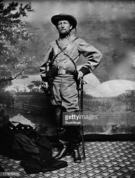 Portrait of John Singleton Mosby the 'Gray Ghost' who was a Confederate cavalry battalion commander 1864