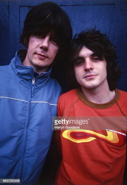 Portrait of John Squire and Chris Helme of The Seahorses Ireland 1997