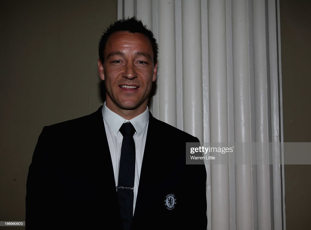 A portrait of <a gi-track='captionPersonalityLinkClicked' href=/galleries/search?phrase=John+Terry&family=editorial&specificpeople=171535 ng-click='$event.stopPropagation()'>John Terry</a> of Chelsea during the UEFA Champions League and UEFA Women's Champions League Cup handover ceremony at Banqueting House, Whitehall on April 19, 2013 in London, England. Wembley Stadium in London will host on May 25 the final football match of the UEFA Champions League.