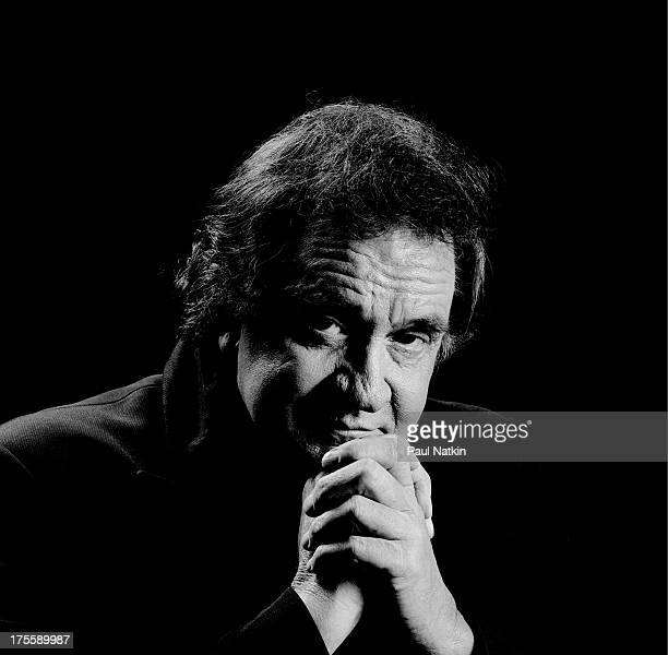 Portrait of Johnny Cash at the Star Plaza Theater Merrilville Indiana May 2 1994