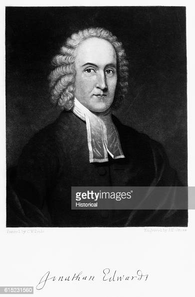 Portrait of Jonathan Edwards clergyman and preacher in the American Congregational church He was a missionary to the Indians and in his final year...